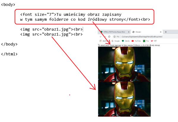 HTML by Łukasz wyświetlanie grafiki