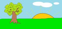Oliwia Kotulla, wiosenne drzewo